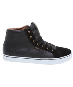 DVS Luster High Skate Shoes Black Leather Cinelli