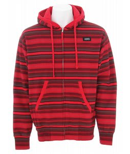 DVS Montoya Zip Hoodie Red Print