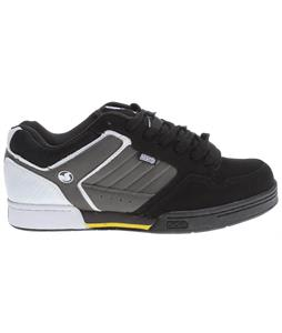 DVS Transom Skate Shoes Black/White Nubuck
