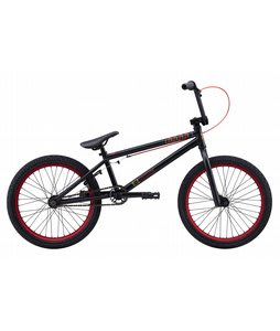 Eastern Cobra BMX Bike Matte Black w/ Red Rims 20in