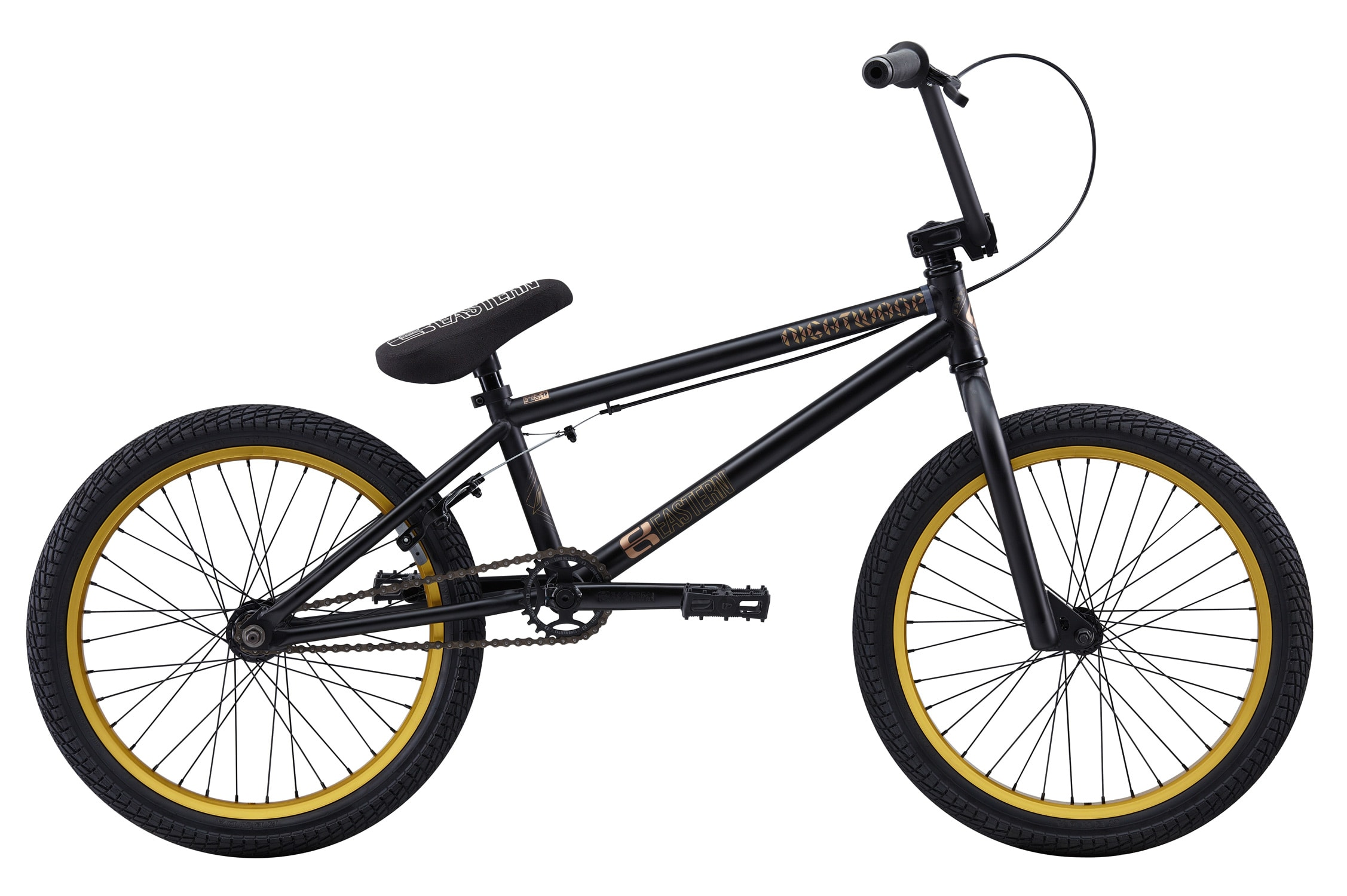 Bike With Gold Rims Bike Matte Black w/ Gold