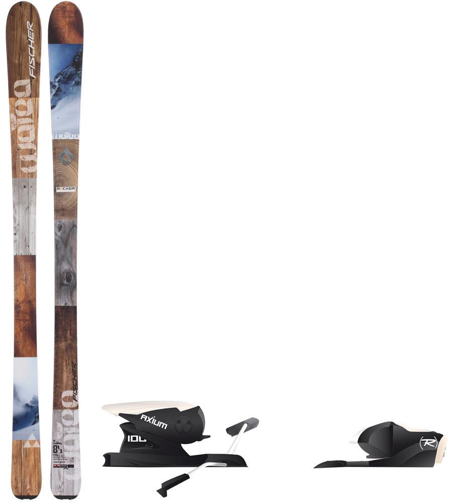 Fischer Watea 84 Skis Mens 176 Rossignol Axium 100 Ski