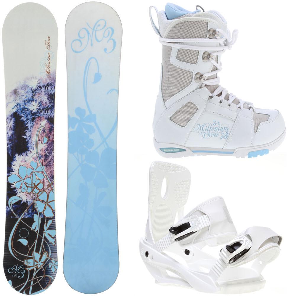 M3 Frosty 154 Womens Snowboard + Sapient Zeta Bindings