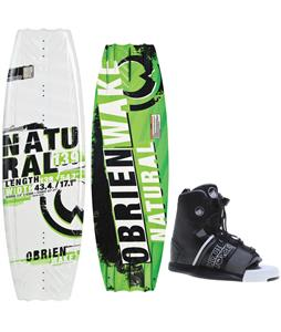 O'Brien Natural Wakeboard w/ Liquid Force Element Bindings