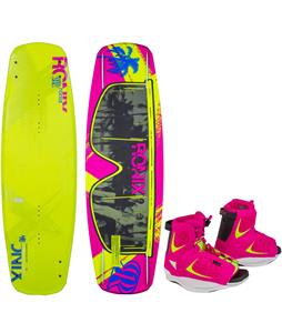 Ronix Quarter Til Midnight ATR Secret Flex Blem Wakeboard w/ Luxe Wakeboard Boots