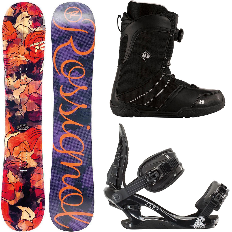 Rossignol Frenemy Magtek 144cm Womens Snowboard + K2 Charm