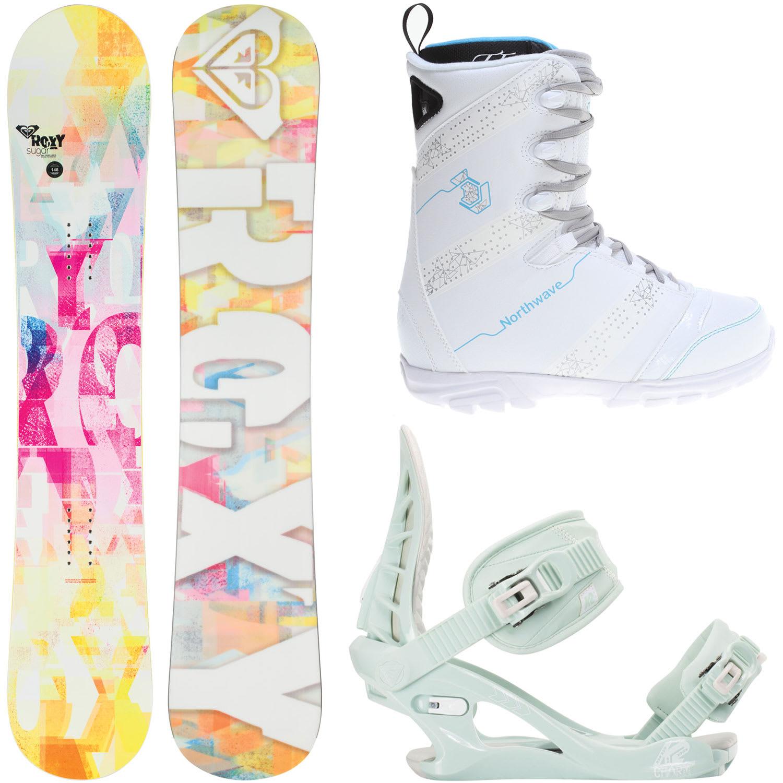Roxy Sugar Banana 149cm Womens Snowboard + K2 Charm