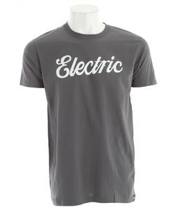 Electric Cursive T-Shirt Charcoal