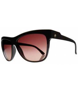 Electric Caffeine Sunglasses Gloss Black/Brown Gradient Lens