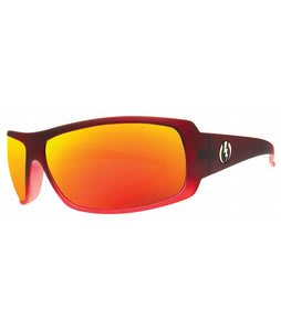 Electric Charge Sunglasses Crimson Red/Grey Fire Chrome Lens
