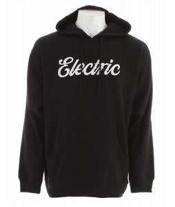 Electric Cursive Basic Hoodie Black