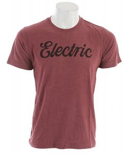 Electric Cursive T-Shirt Blood Red
