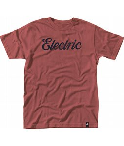 Electric Cursive Custom T-Shirt Electric Red Heather