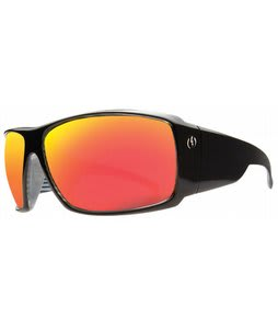 Electric D. Payne Sunglasses Black Lines/Grey Fire Chrome Lens