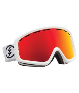 Electric EGB2 Goggles Gloss White/Bronze/Red Chrome Lens