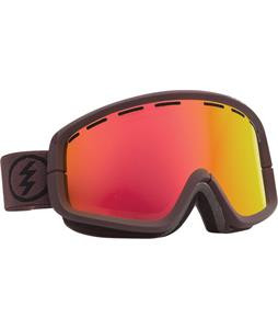 Electric EGB2 Goggles Mississippi Mud/Grey/Red Chrome + Bonus Lens