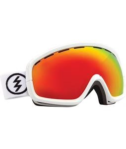 Electric EGB2S Goggles Gloss White/Bronze/Red Chrome Lens