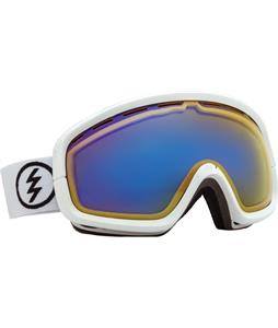 Electric EGB2S Goggles Gloss White/Yellow/ Blue Chrome Lens
