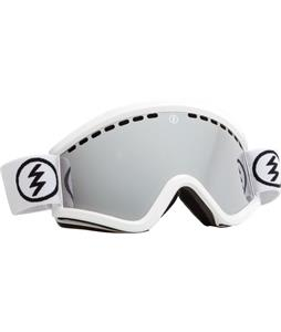 Electric EGV Goggles Gloss White/Bronze/Silver Chrome + Bonus Lens