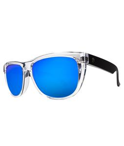 Electric Flip Side Sunglasses Black Crystal/Melanin Grey Blue Chrome Lens