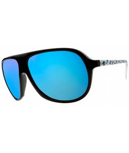 Electric Hoodlum Sunglasses Powder Splatter/Grey Blue Chrome Lens