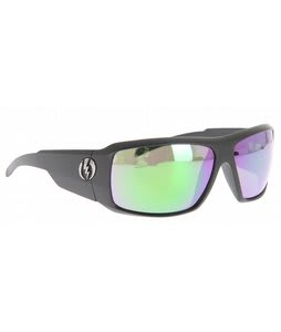 Electric KB1 Sunglasses Matte Black/Grey Green Chrome Lens