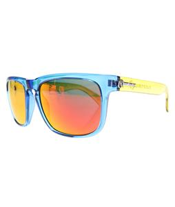 Electric Knoxville Sunglasses Electric Cyan/Melanin Grey Fire Chrome Lens
