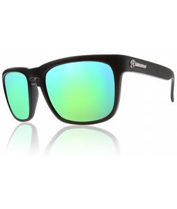 Electric Knoxville Sunglasses Matte Black/Grey Green Chrome Lens
