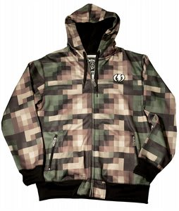 Electric Pixel Hydro Snow Fleece Hoodie Hydro