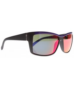 Electric Riff Raff Sunglasses Black N Purple/Grey Plasma Chrome Lens