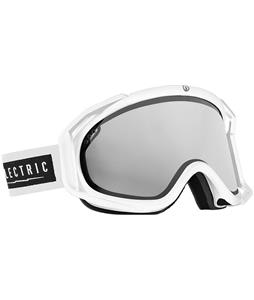 Electric Rig Goggles Gloss White/Bronze/Silver Chrome And Bonus Lens