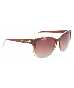 Electric Rosette Sunglasses Brown Mint Fade/Brown Gradient Lens