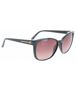 Electric Rosette Sunglasses Gloss Black/Brown Gradient Lens