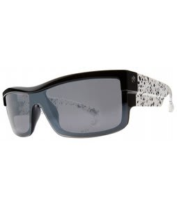 Electric Shotglass Sunglasses Black Splatter/Grey Chrome Lens