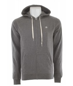 Element Cornell 3 Zip Hoodie Grey Heather
