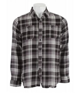 Element Dalton L/S Flannel Charcoal Heather