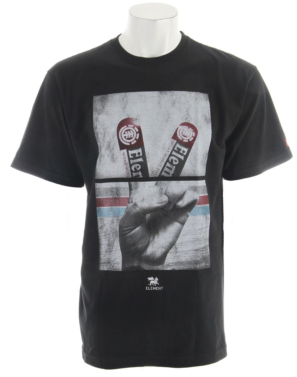 Shop for Element Fingers T-Shirt Black - Men's