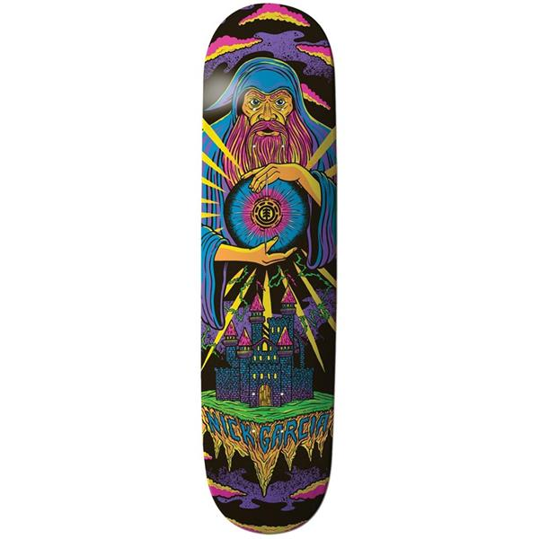 Element Garcia Black Lit Skateboard Deck