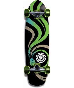 Element Rattler Aqua Bamboo Longboard Skateboard Complete