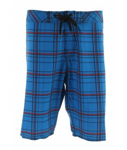 Element Ready Aim Plaid Boardshorts Blue