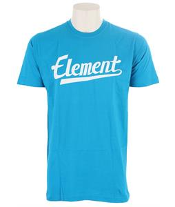 Element Script T-Shirt Cyan