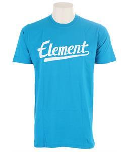 Element Script T-Shirt Cyan