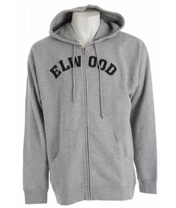 Elwood College Zipup Hoodie Heather Grey