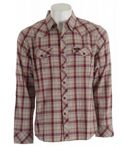 Elwood Kenny Myles Woven Shirt Burgundy