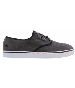 Emerica Leo Laced Shoes Dark Grey/White
