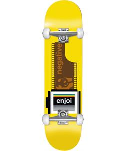 Enjoi Negative Skateboard Complete Yellow 7.5 x 31.2in