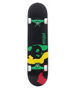 Enjoi Rasta Panda Skateboard Complete Black