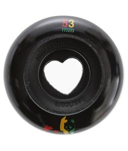 Enjoi Rasta Panda Hollowcore Skateboard Wheels Black 53mm