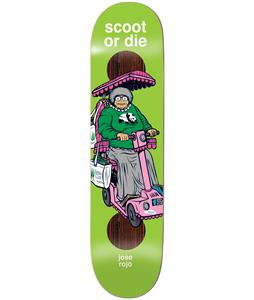 Enjoi Scooters Impact Plus Rojo Skateboard Deck