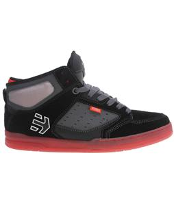 Etnies Cartel Mid Skate Shoes Black/Charcoal/Red